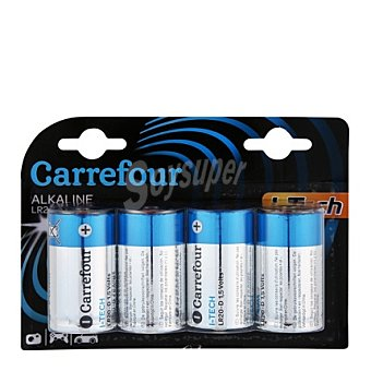 Carrefour Pilas LR20 itech 4 ud