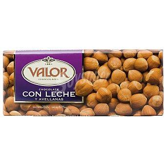 Valor Chocolate con leche-avellanas Tableta 250 g