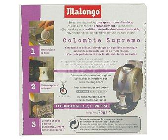 Malongo Café monodosis Colombia 12 unidades