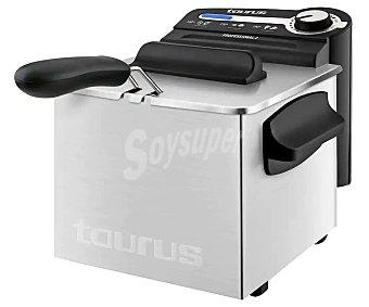 Taurus Freidora Professional Plus, de capacidad, acero inoxidable, regulador de temperatura, indicador luminoso 2 litros
