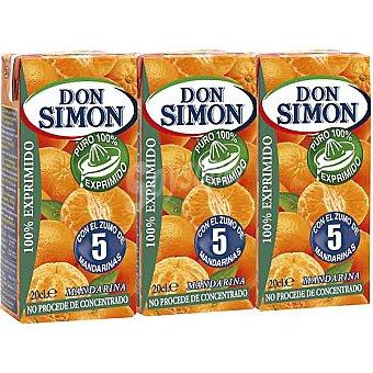 Don Simón Zumo de mandarina exprimida Pack 3 envase 200 ml