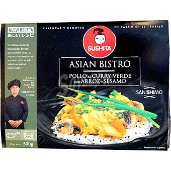 SUSHITA Pollo al curry verde con arroz y sésamo Envase 300 g