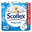 Papel higienico Megarollo Paquete 40 rollos Scottex