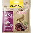 Snacks para perros curls de pato envase 55 G Envase 55 g Gimdog