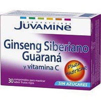 Juvamine Ginseng con guarana en comprimidos Caja 30 unid