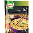 Sopa Thai con fideos, setas y coco Envase 69 g Knorr