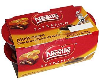 Extrafino Nestlé Crema de chocolate-dulce de leche Pack 4x70 g