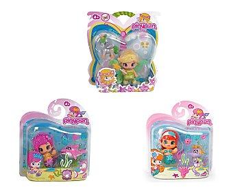 PIN Y PON Surtido fantasía Pin y Pon, muñeco y mascota, Hada + Unicornio, o Sirena + Caballito de mar 1 Unidad
