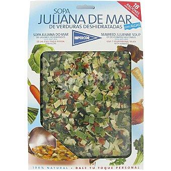 Hipercor Sopa juliana de mar deshidratada con algas Estuche 180 g