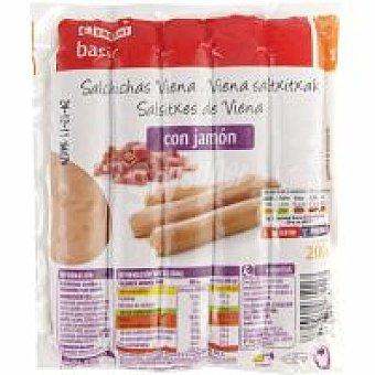 Eroski Basic Salchicha con jamón Sobre 200 g