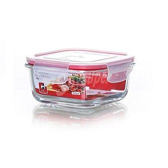 Recipiente Hermético Cuadrado de Cristal 0,5 L. - Transparente. Outlet. Producto Reacondicionado 1 ud