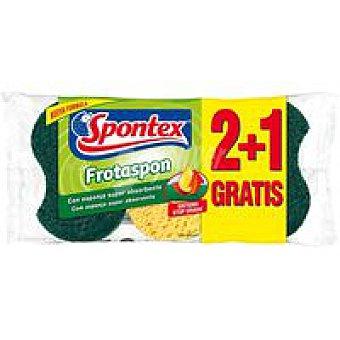 Spontex Estropajo Frotaspon stop grasa Pack 2+1 unid