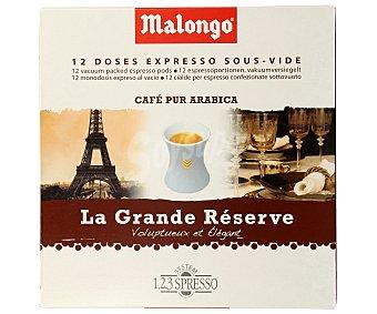 Malongo Café gran reserva monodosis 12 uds