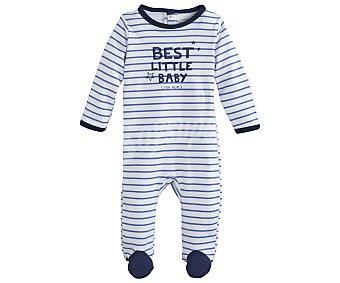 In Extenso Pijama pelele largo interlock para bebé talla 68