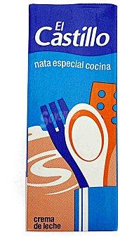 El Castillo Nata uht de cocina Brik 200 ml
