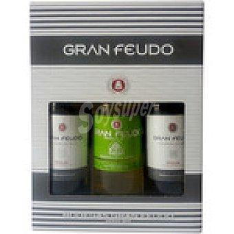 GRAN FEUDO Vino tinto joven D.O. Rioja + vino blanco verdejo botella de 75 cl estuche 2 botellas 75 cl