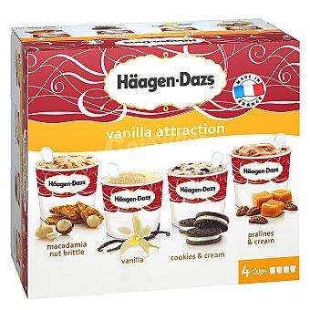 Häagen-Dazs Caramel Attraction tarrinas de helado sabor caramelo estuche 344 ml 4 unidades de 86 ml