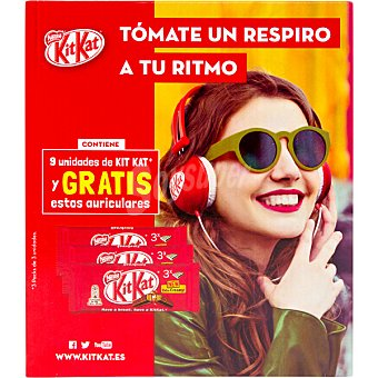 Kit Kat Nestlé Barritas de chocolate 9 unidades 373,5 g
