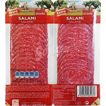 Aliada Salami extra en lonchas envase 225 g Pack 2 x 112,5 g