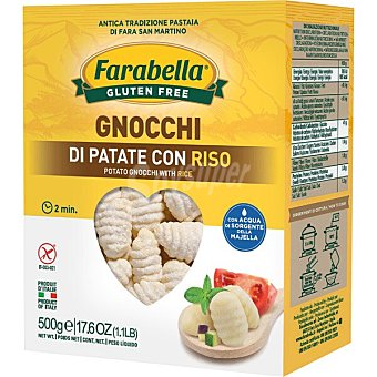 Farabella Gnocchi de patata con arroz sin gluten Envase 500 g