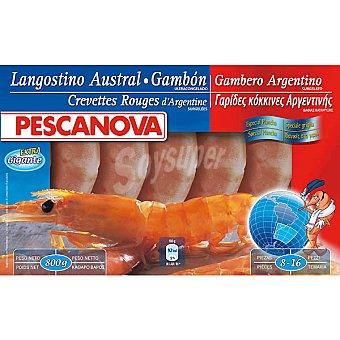 Pescanova Langostino austral gambón 8-16 piezas Estuche 800 g neto escurrido