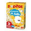 Palomitas de maíz sabor natural con sal para microondas Pack 3 paquetes x 100 g Popitas Borges