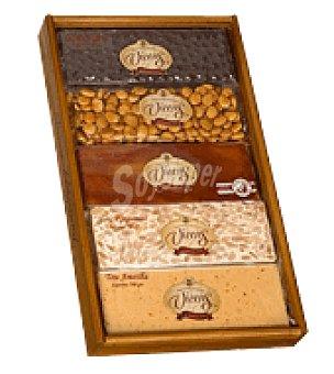 Vicens Lote madera 5 tabletas de turrón 500 g