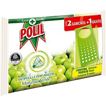 Polil Raid Pinza antipolillas perfume manzana verde sin naftalina 2 unidades