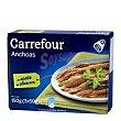 Filetes de anchoa del Cantábrico en aceite de oliva Pack de 3x50 g Carrefour