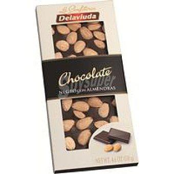 Delaviuda Chocolate negro con almendras Tableta 130 g