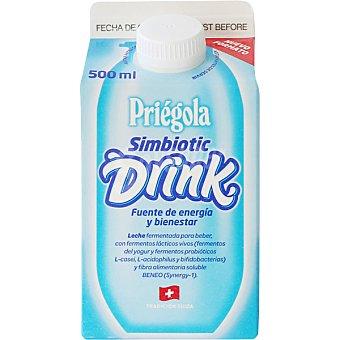 Priegola Simbiotic Drink bebida a base de leche fermentada simbiotica con probioticos y prebioticos envase 500 ml