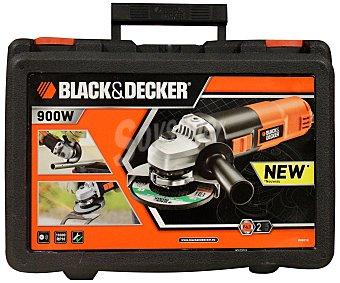 BLACK & DECKER Amoladora de 115 milimetros en maletín, 3 funciones, 900 watios 1 Unidad
