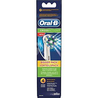 Oral-B Recambio de cepillo dental Cross Action EB-50 blister 4 unidades 4 unidades