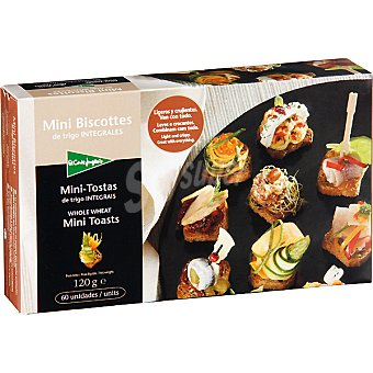 El Corte Inglés Mini biscotes integrales de trigo Estuche 120 g