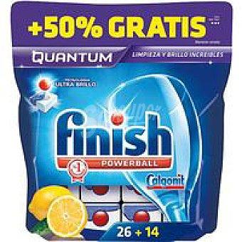 FINISH CALGONIT Lavavajillas máquina Quantum lima 40 dosis
