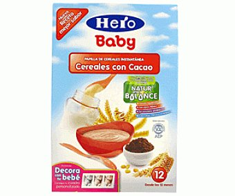 Hero Baby Papilla de cereales con cacao Natur Balance