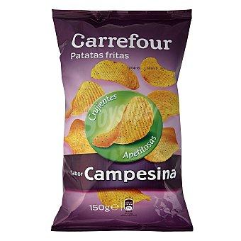 Carrefour Patatas fritas onduladas sabor campesina 150 g