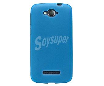MUVIT Carcasa trasera Minigel, azul, compatible para Alcatel Pop C7. (teléfono no incluido) 1 Unidad
