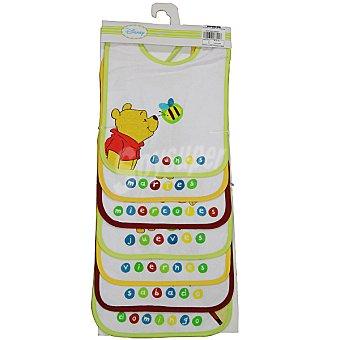 Disney set 7 baberos de rizo, plastificados con estampado de Winnie the Pooh