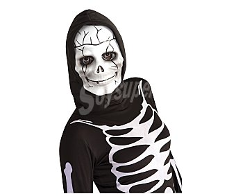 HAUNTED HOUSE Máscara Calavera con capucha, Halloween Máscara calavera