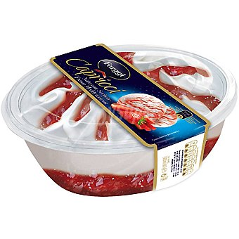 FARGGI CAPRICCI Helado de nata con sorbete de fresas mediterraneas Tarrina 900 ml