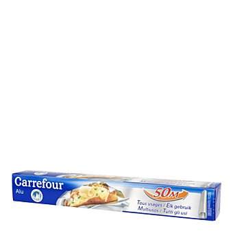 Carrefour Papel aluminio 50 metros.