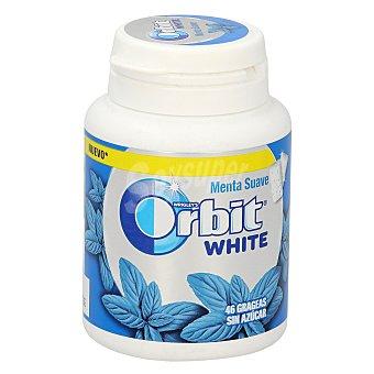 Orbit White chicle grageas sabor menta Bote 64 gr