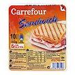 Fiambre york en lonchas 250 g. Carrefour