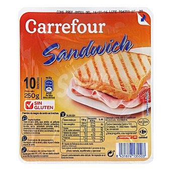Carrefour Fiambre york en lonchas 250 g.