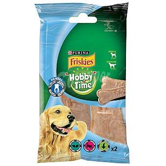 FRISKIES HOBBY TIME Hueso pensado de higiene dental para perros de raza pequeña-mediana Paquete 2 unidades