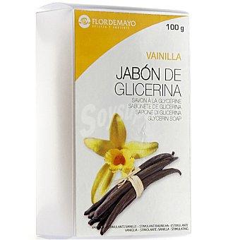Flor de Mayo Pastilla de jabón de glicerina Vainilla estimulante Pastilla 100 g