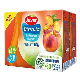 Juver Disfruta Néctar de melocotón sin azúcares añadidos Pack 6 briks 200 ml