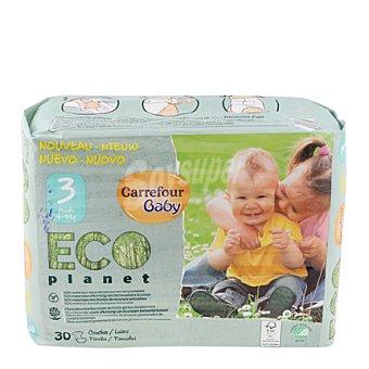 Carrefour Eco Planet Pañal T3 de 4 a 9 kilos 30 ud