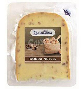 Queso hollandia con nueces cuña 200 G